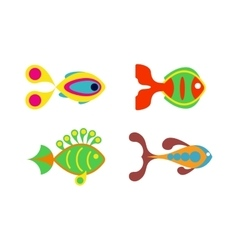 Aquatic fish wildlife aquarium underwater nature vector image vector image
