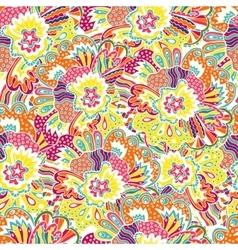 flower pattern Seamless botanic texture vector image vector image