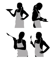 girl in the kitchen vector image vector image
