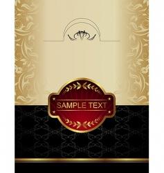 Gold wine label vector