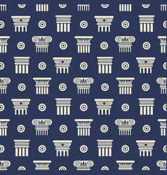 greek and roman ancient columns seamless pattern vector image vector image