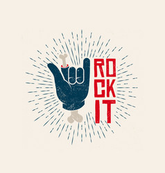 Rock it logo design rockl vector