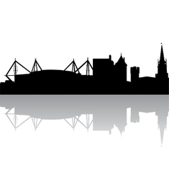 silhouette of Cardiff UK vector image