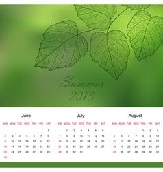 Summer 2013 vector image