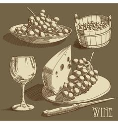wine background vector image
