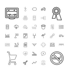 37 line icons vector