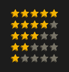 3d style star rating symbols vector