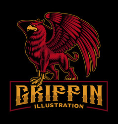 A colorful griffin this design can be used vector