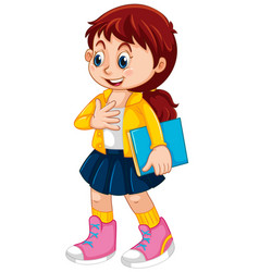A cute student character vector