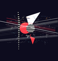 abstract background with different geometric vector image