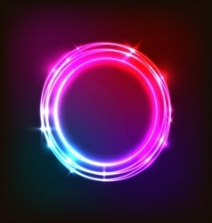 Abstract neon background with colorful circles vector
