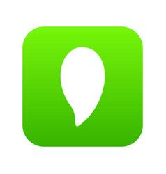 almond nut icon digital green vector image