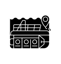 Atlantis submarines black glyph icon vector