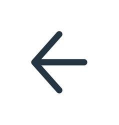 Backwards icon isolated on white background vector