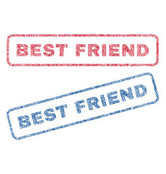 best friend textile stamps vector image