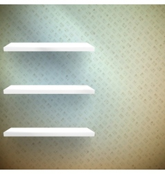 Big Sale 3d isolated Empty shelves for exhibit vector image