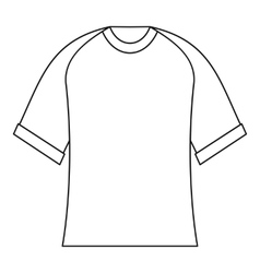 Blank baseball shirt icon outline style vector