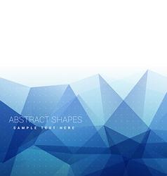 Blue trianlgle background vector