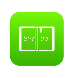 braille icon digital green vector image