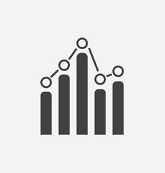 business graph icon chart flat on white background vector image
