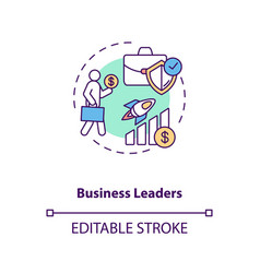 Business leaders concept icon vector