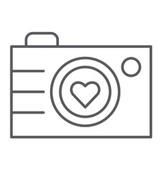 camera thin line icon photography and love love vector image