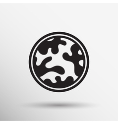 Camouflage fabric pattern shape badges stickers vector