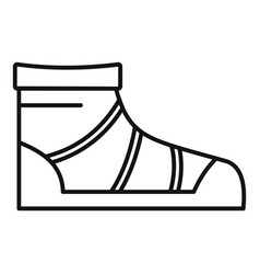 Camp boot icon outline style vector