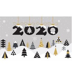 Cartoon happy new year 2020 greeting card vector