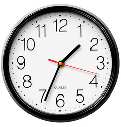 Classic round wall clock isolated on white backgro vector
