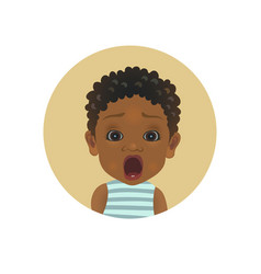 cute shocked afro american child facial expression vector image