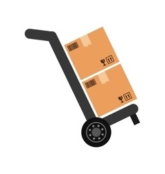Delivery box shipping vector