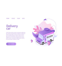 delivery truck service landing vector image