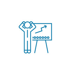 Financial analyst linear icon concept financial vector