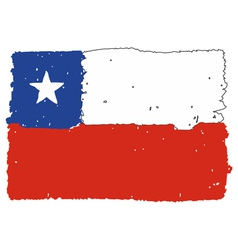 Flag of Chile handmade vector image