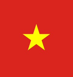 Flag of vietnam in official rate and colors vector