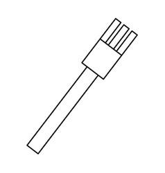 fork cutlery utensil vector image