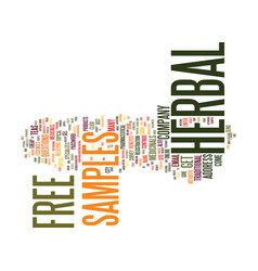 Free herbal samples text background word cloud vector