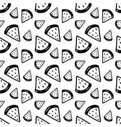 Hand Drawn Ink Watermelons Pattern vector