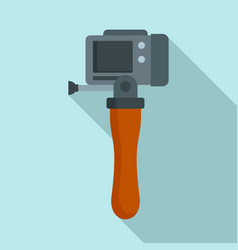 hand stick camera icon flat style vector image
