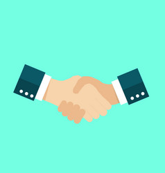 handshake icon agreement symbol vector image