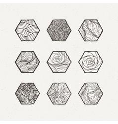 Hexagons set Pattern vector image