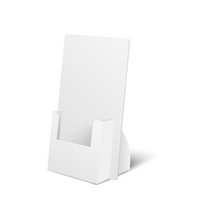 Holder box or pos cardboard display 3d vector