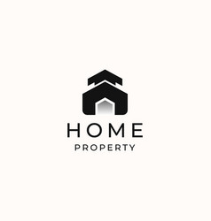 home modern concept logo template isolated vector image