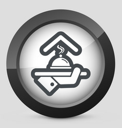 Hotel icons restaurant service vector