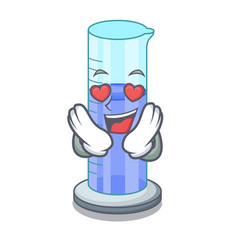 in love graduated shaped cylinder isolated on vector image