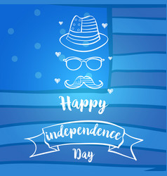Independence day celebration blue background vector