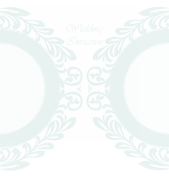 Invitation card ornamental lace vector image
