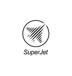 jet logo design template vector image