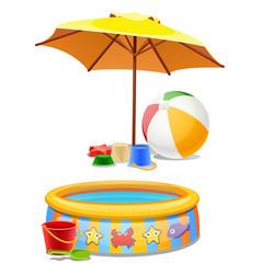 kids play set under sun or on beach vector image